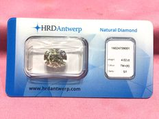 4.02 ct cushion cut diamond, K/SI1