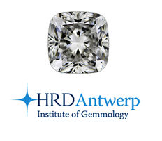 1 diamond with HRD certificate - brilliant - 0.22 ct - SI1/H