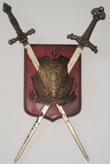 Family Coat-of-Arms with Medieval Armour