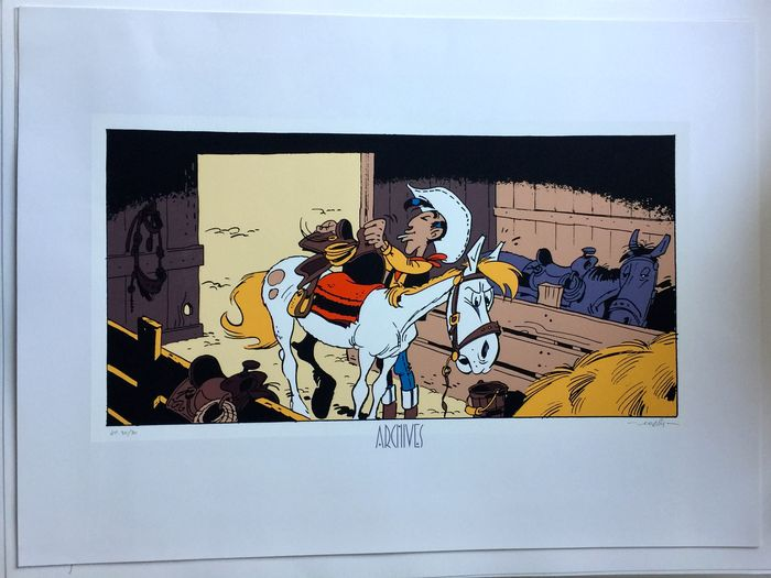 Morris - Silkscreen print Archives Internationales - Lucky Luke - A l'ombre des derricks - Hors Commerce - (1999)