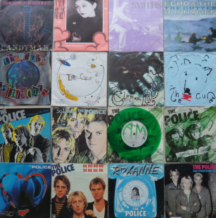 Lot of 16 New Wave singles
