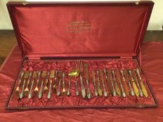 Complete silver dessert cutlery set for 12, Italy 1950s/60s
