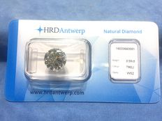 3.59 ct brilliant cut diamond, L  VVS 2