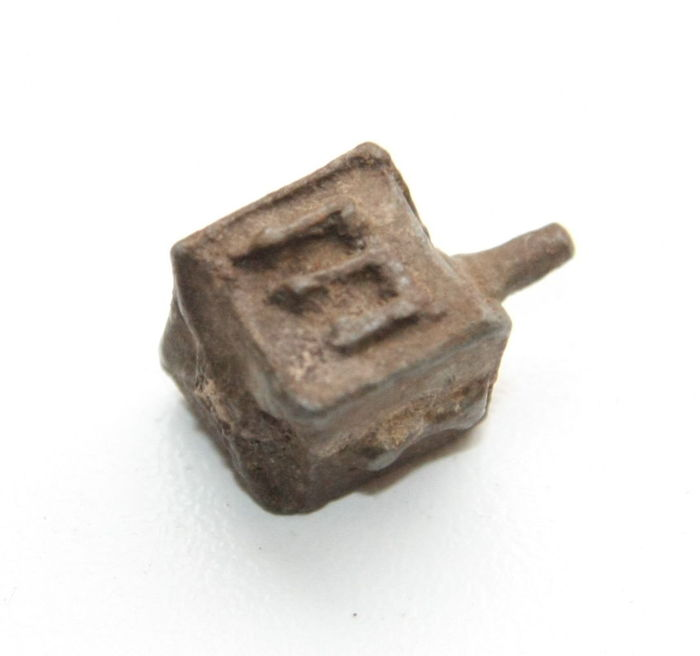 "Old whirligig or ""Dreidel"" Jew. Baltic countries.Lead. Seventeenth or EIGHTEENTH century"