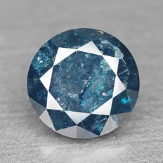 Fancy Blue Diamond - Round Brilliant cut 0.570 ct