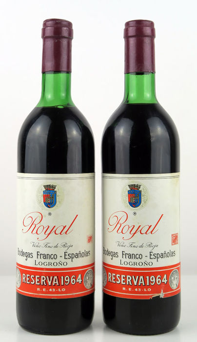 1964 Rioja Royal Gran Reserva - 2 bottles
