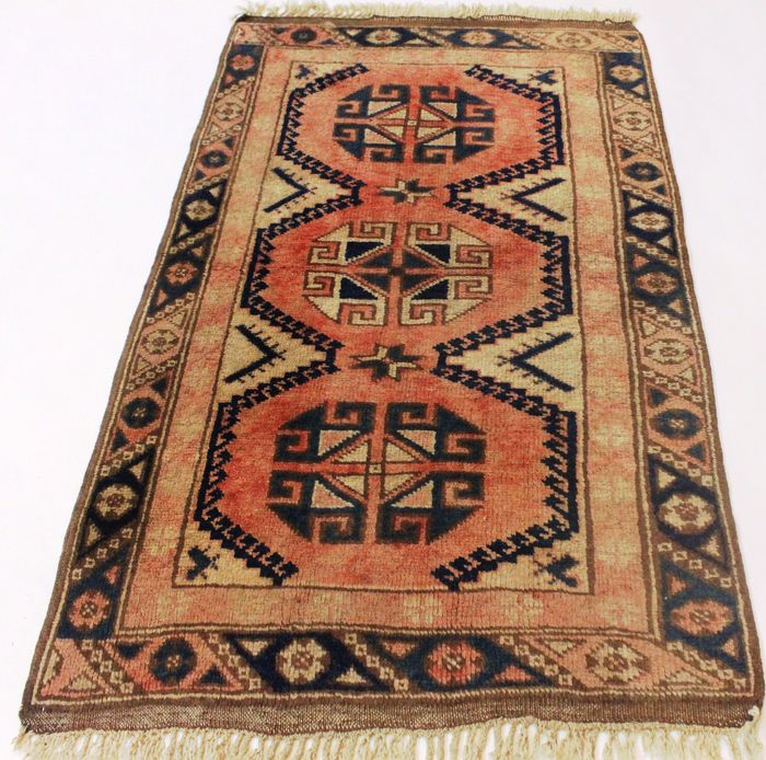 Antique Anatolian Oriental Carpet Kazak Kasak Runner 80 X