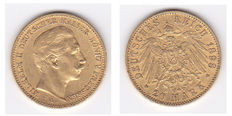 "German Imperial Coinage, Prussia—20 Mark gold coin ""1898 A"""