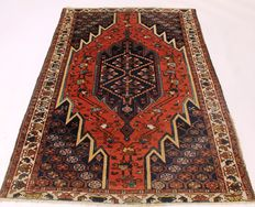 Magnificent antique Persian carpet, fine fields, Bachtiar around 1910, plant colours, 124 x 180 cm, made in Iran