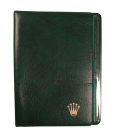 Rolex guarantee/document holder in green leather