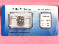 3.68 ct brilliant cut diamond, H SI1