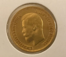 Russia – 10 Roubles 1899 ЭБ – gold