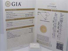 1 GIA-certified diamond - Rectangular - 0.25 ct - SI1/E