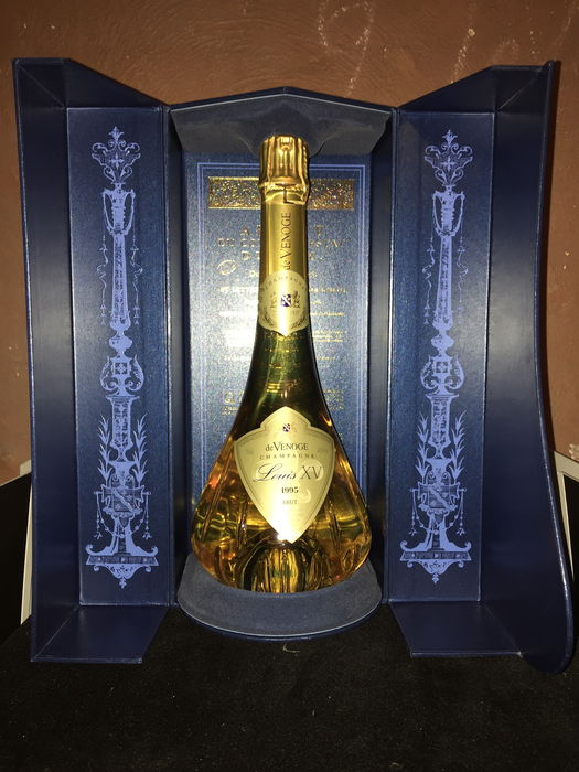 1995 Champagne louis XV of Venoge Brut in carafe and luxury box ...