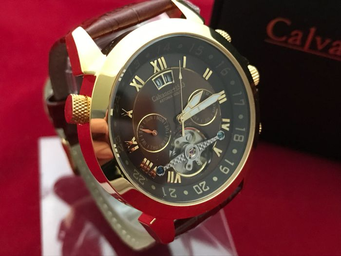Calvaneo 1583 Astonia Gold Mountain – men's wristwatch - new condition