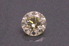Diamant naturel jaune clair taille en brillant de 0,50 ct - SI1