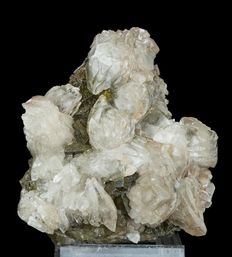 Calcite flowers with fluorite and chalcopyrite crystals - 125 x 115 x 88mm - 640g