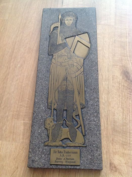 Sir John D'Aubernoun c. 1277 handmade Brass Rubbing 20th century.