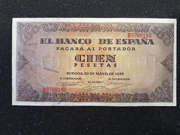Spain - 100 Pesetas - Burgos, 21st November 1936 - Pick 113