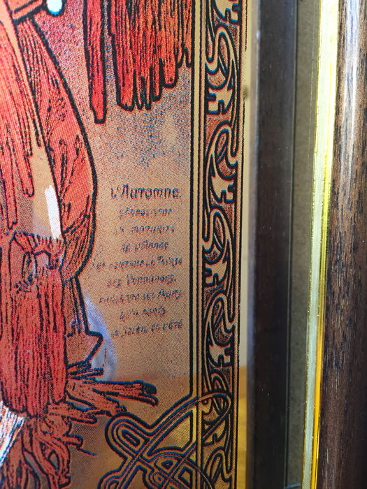 Two mirrors autumn winter from the four seasons by for Miroir art nouveau