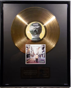 "Oasis - What's the Story - Morning Glory ? - 12"" german gold plated record with CD and cover by WWA gold Awards"