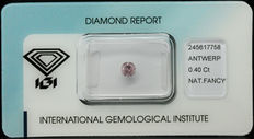 0.40 ct Natural Fancy Pink Diamond – NO RESERVE