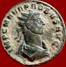 Roman Empire - Probus (276 - 282 A.D.) antoninianus (3,55 g. 21 mm.) from Siscia mint, 2nd. officina. 5th. emission, A.D. 278. P M TR P COS II PP - XXI. S. Lion. Rare!!