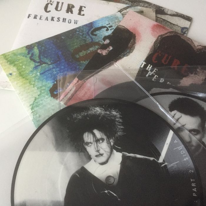 goth/ wave legends The Cure, superb lot of 7 vintage 7inch singles
