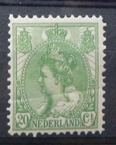 "The Netherlands 1899 – Queen Wilhelmina ""Fur collar"" – NVPH 68, with inspection certificate"