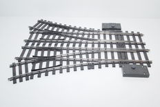 Track 1- Märklin - 5976-5977/5625 - 1 pair nice switches with electromagnetic drive R 1020