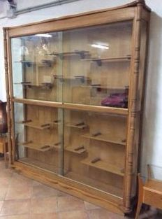 Big glass cabinet for display, Empire style, 20th century