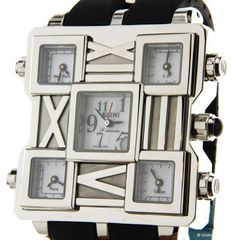 Elini Barokas Square World - Men's wristwatch