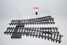 Track 1- Märklin - 5976-5977/5625- 1 pair of switches with electromagnetic drive R 1020