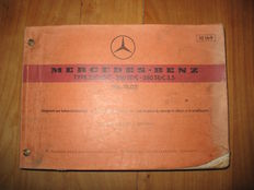 Catalogue of spare parts for MERCEDES type 111.02 for models: 250, 280 SE/C and 280 SE/C 3.5.