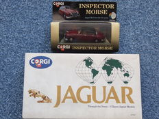 Corgi - Scale 1/43 - Jaguar MkII Inspector Morse (1st version!) and set Jaguar Through the Years