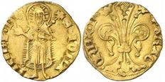 Spain – Pedro III (1336 -1387) – One florin, Barcelona mint – Mark: rose – Scarce – Gold