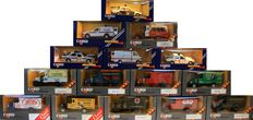 Corgi - Scale 1/36-1/43 - Lot with 15 models: 2 x Renault, 4 x Mack Truck, 4 x Thornycroft, 2 x Police Car, Rover 800, Mercedes 207D and Ford.