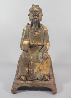 Bronze sculpture of a sage – China – 21st century