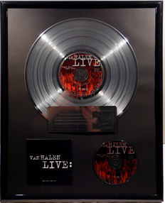 "Van Halen - Live - 12"" german platinum plated record with CD and cover by WWA gold Awards"
