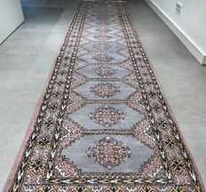 Spectacular XL Buchara rug - 350 x 80 cm - with certificate