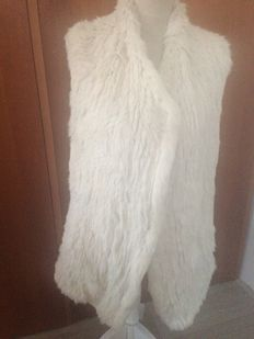 Jessimara - Thick rabbit fur jacket / vest - New
