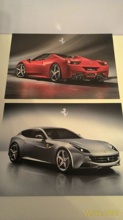 Lotto 2 cartoline Ferrari