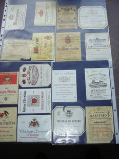 Advertising - large collection of vintage advertising stickers, among others about 230 wine labels of European wines - ca 1970/1980