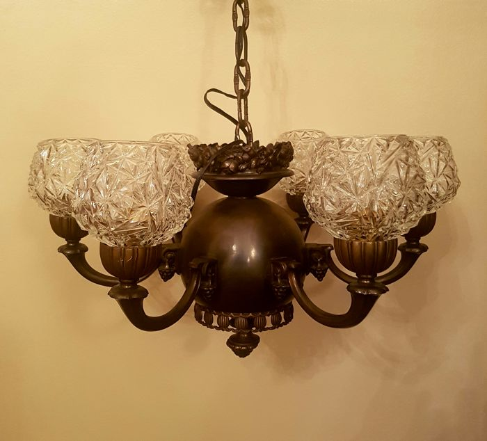 Chandelier - bronze - Crystal - 1920