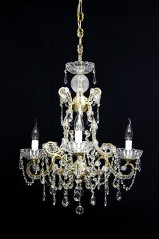 Original reproduction chandelier Maria-Theresa style, 70's