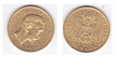 """German Imperial Coinage, Prussia—20 Mark gold coin """"1895 A"""""""
