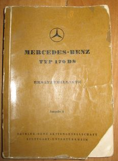 Catalogue of spare parts for MERCEDES type 170 DS: