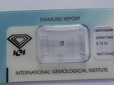 Natural fancy purplish pink diamond 0.12 ct IGI Certificate ***No minimum price***