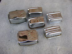 Ashtrays for various classic cars - 6 items - chrome plated
