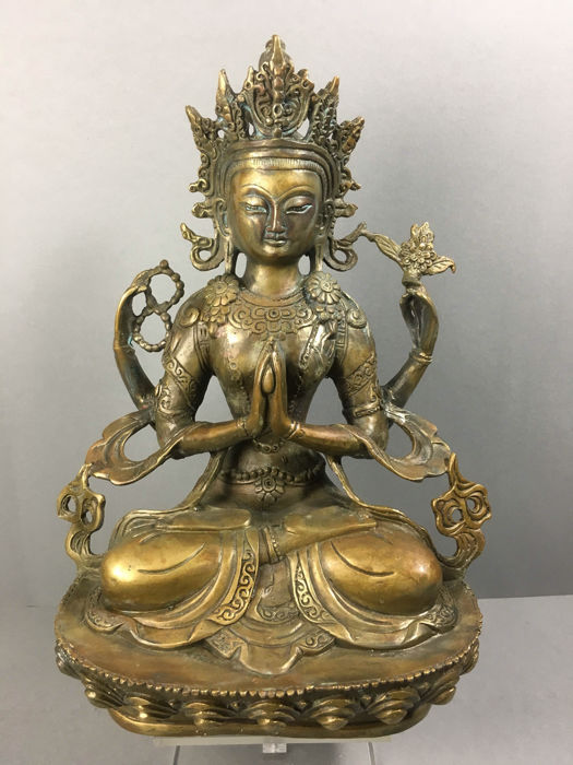 Sadaksari Lokeshvara - bronze - Nepal - 2nd half of the 20th century